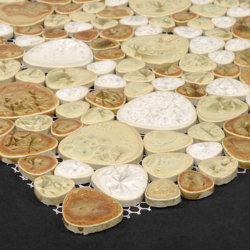 Wholesale Heart Shaped Mosaic Art Collection Mixed Installation Of Pebble Tile