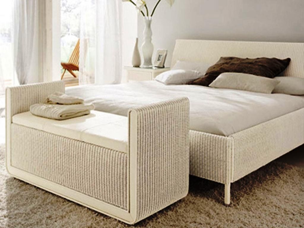 Wicker Bedroom Set Seagrass Bed Frame Black White Wicker Headboard Is Durable Furniture