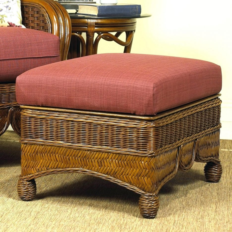 Wicker Footstool Coffee Table Rambukeselamatankerja Decorate A Leather Ottoman Coffee Table