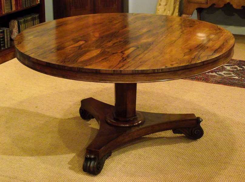 William Iv Rosewood Breakfast Table Antique Table Double Pedestal Dining Table Antique
