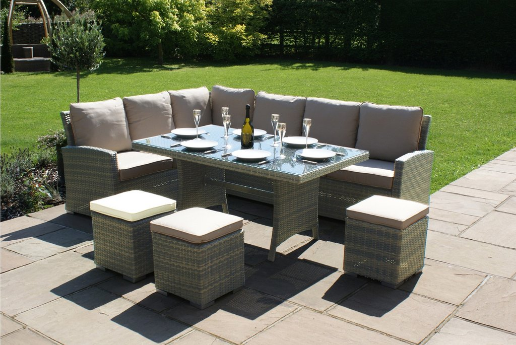Windsor 6 9 Seater Corner Rattan Dining Set How To Repair Rattan Dining Chairs
