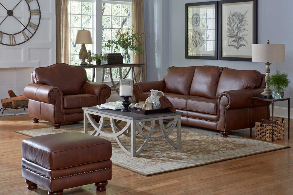 Windsor Hill Country Collection Leather Creation Deep Sectional Sofas Living Room Furniture