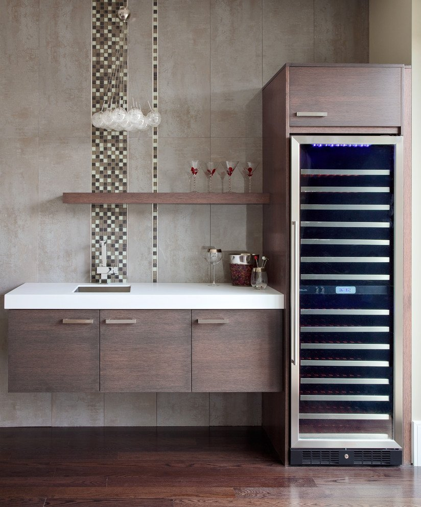Wine Fridge Cabinet Kitchen Traditional Black How To Installing Wine Cooler Cabinet