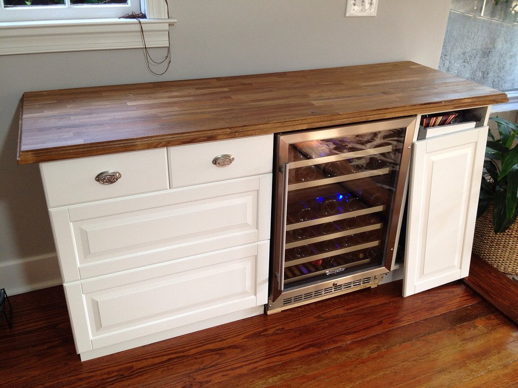 Wood Cabinet Wine Cooler Cabinet Matttroy How To Installing Wine Cooler Cabinet