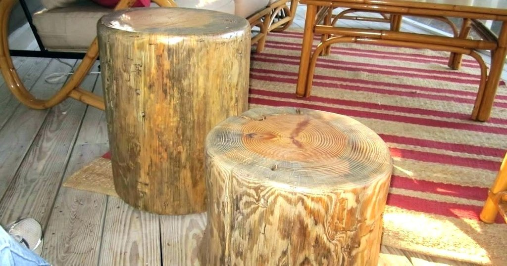 Wood Stump Coffee Table Diy Tree Base Wooden The Round Marble Dining Table