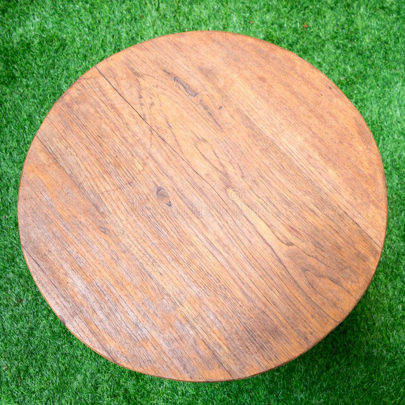 Wood Table Grass Floor Stock Image Image 42716197 How To Build Round Wood Table Tops