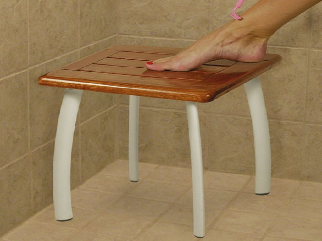 Wooden Bath Stool Shower Stool Disabled Wooden How To Build A Wooden Bathtub Stool