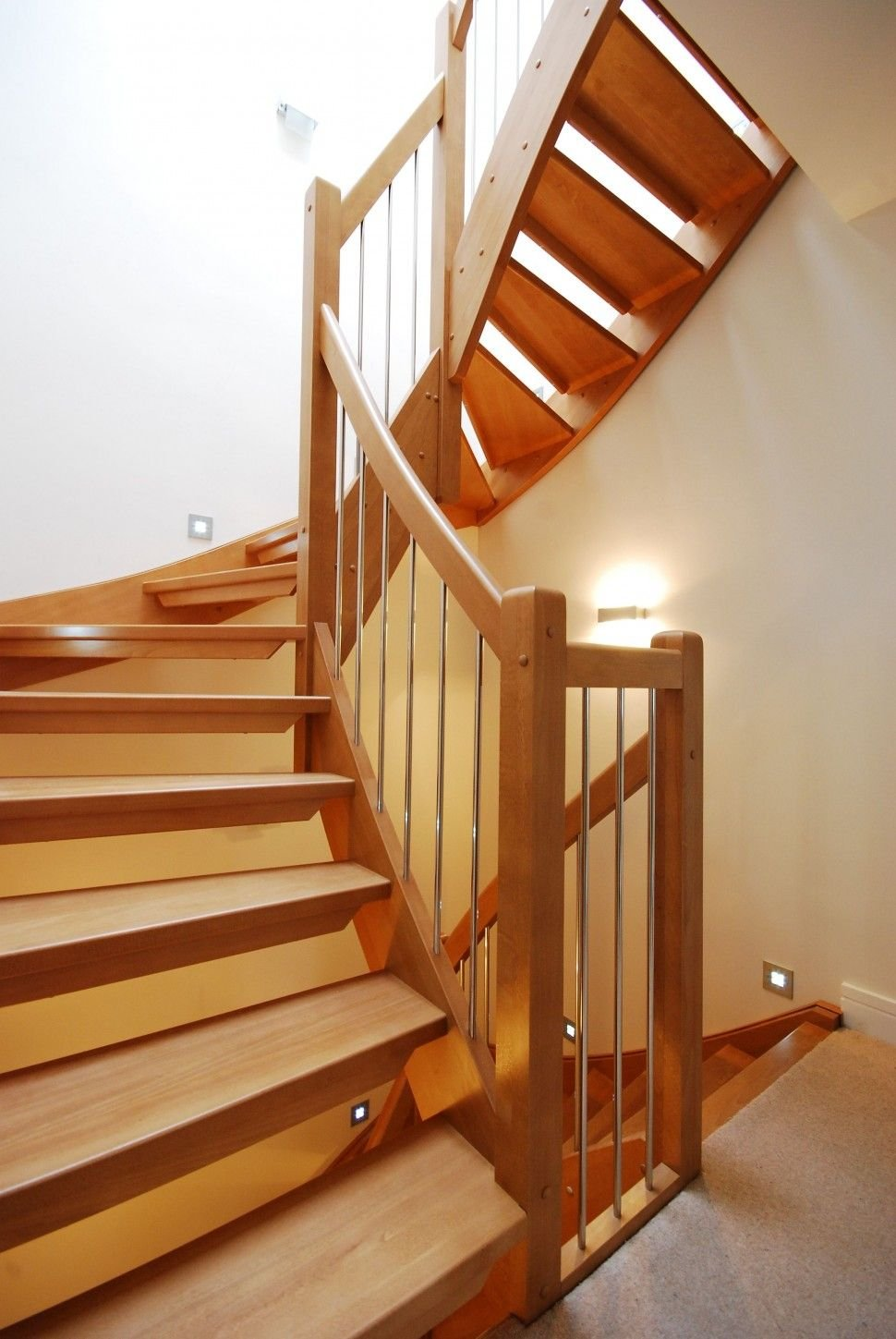 Wooden Handrail Stair Classic Handrail Outdoor Wooden Spiral Staircase
