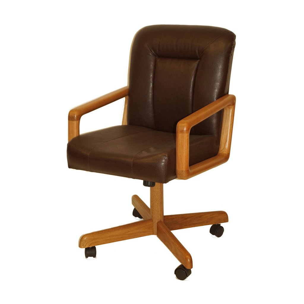 Wooden Office Chair Casters Wood Office Chair Mat Decorate Top Kitchen Dinette Sets