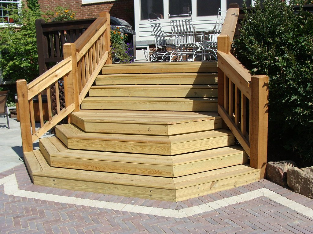 Wooden Step Deck Sundowngarden Flickr Wooden Porch Swings With Frame