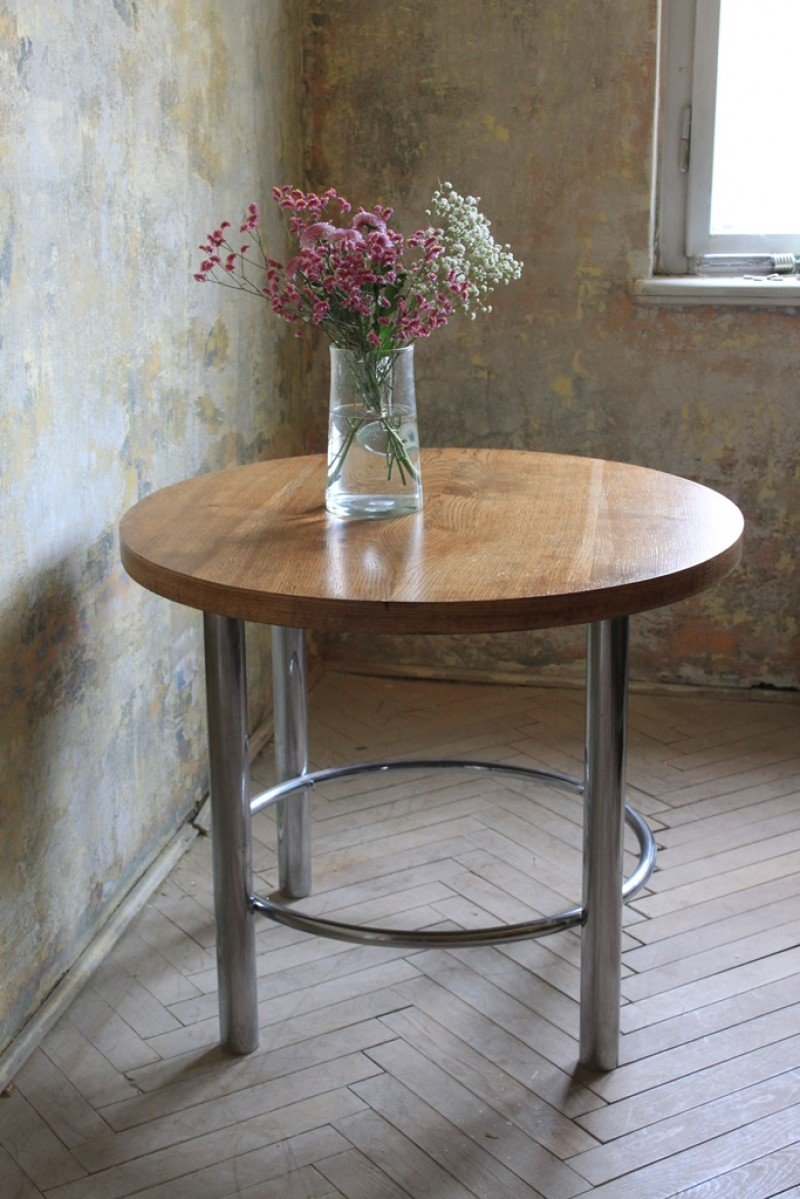 Wooden Table Chromed Construction Romkey How To Build Round Wood Table Tops