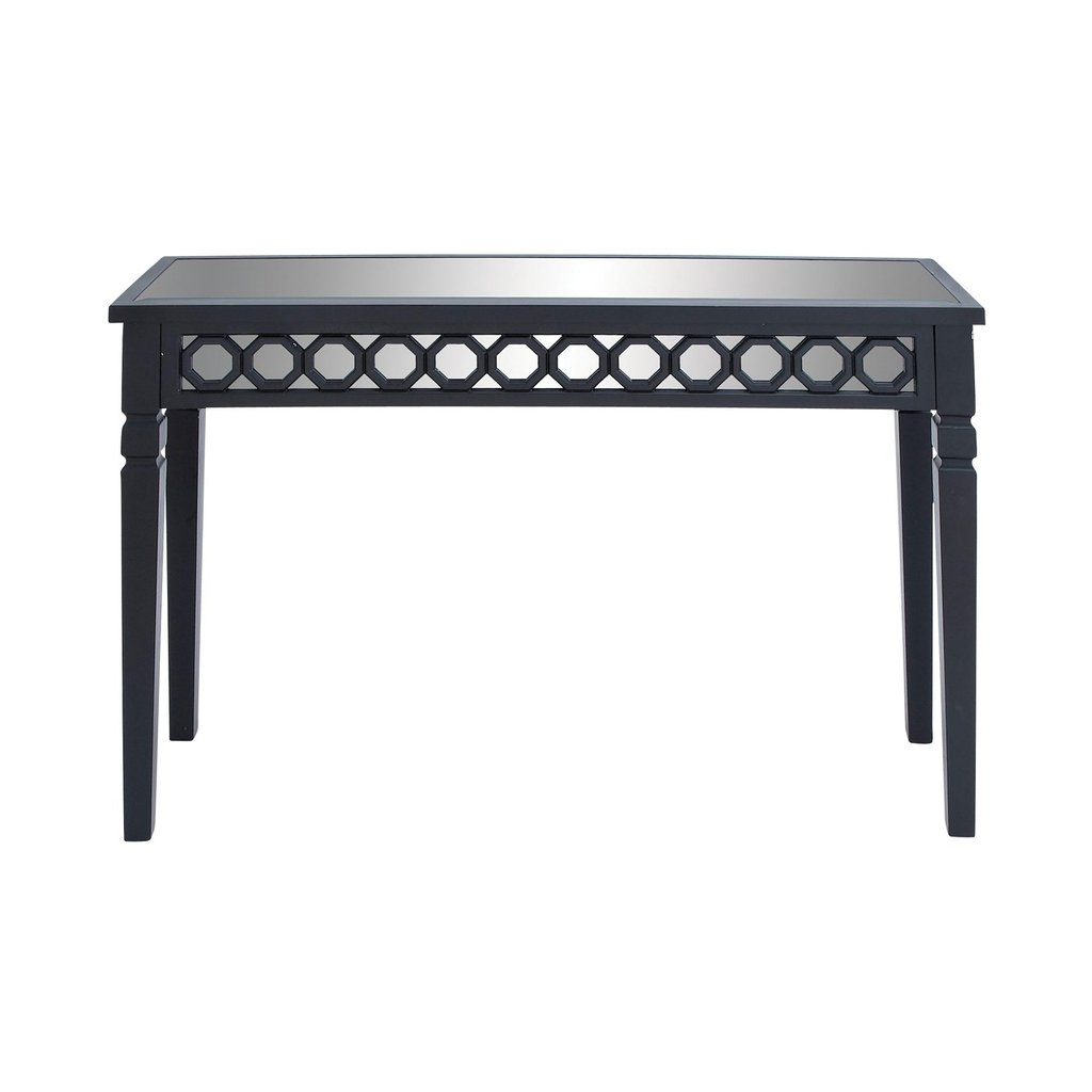 Woodland Import 92309 Mirrored Wood Console Entry Table Modern Mirrored Console Table
