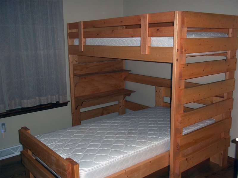 Woodworking Plan Shaped Bunk Bed Build Wooden Twin Bed Frame