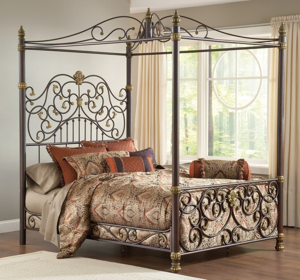 Wrought Iron Bedroom Furniture Steel Canopy Bed King Design Making An Wrought Iron Headboard
