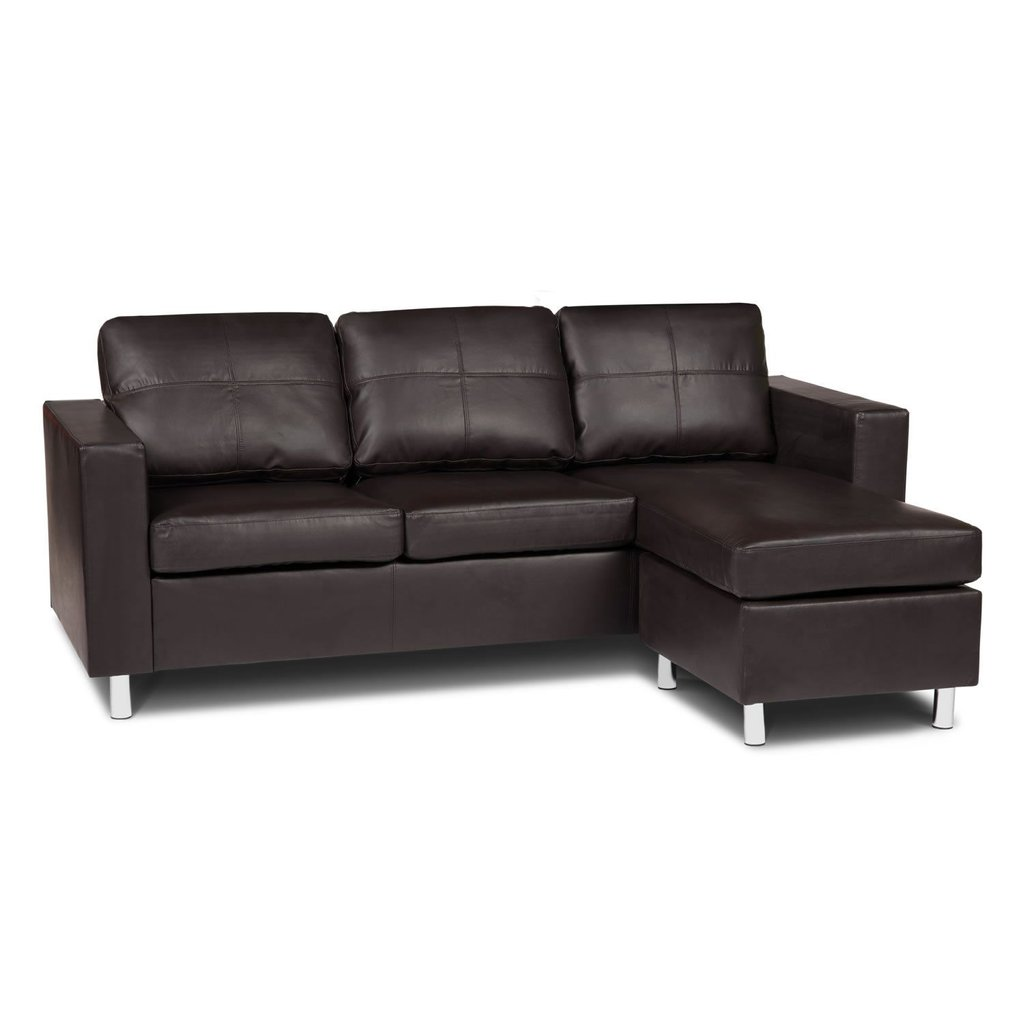 Zara Reversible Faux Leather Corner Sofa Day Sectional Sofas For Small Spaces Modern