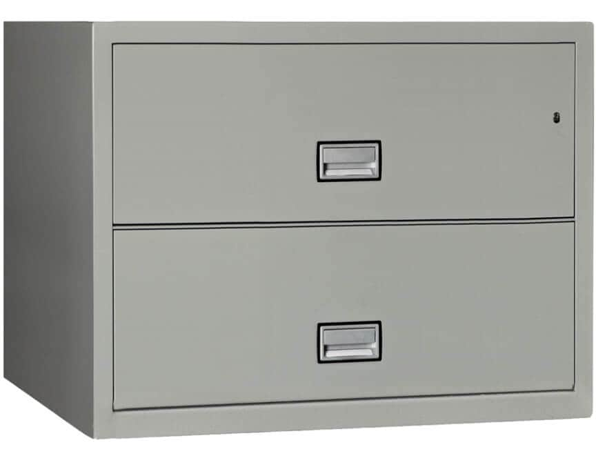 2 Drawer Lateral File Cabinet White
