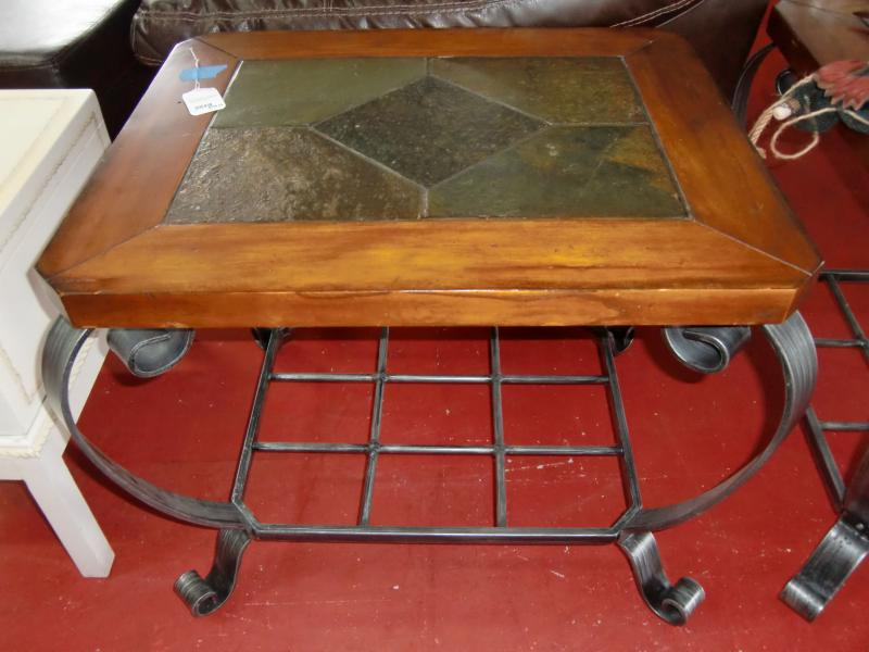 Beautiful Wrought Iron End Tables