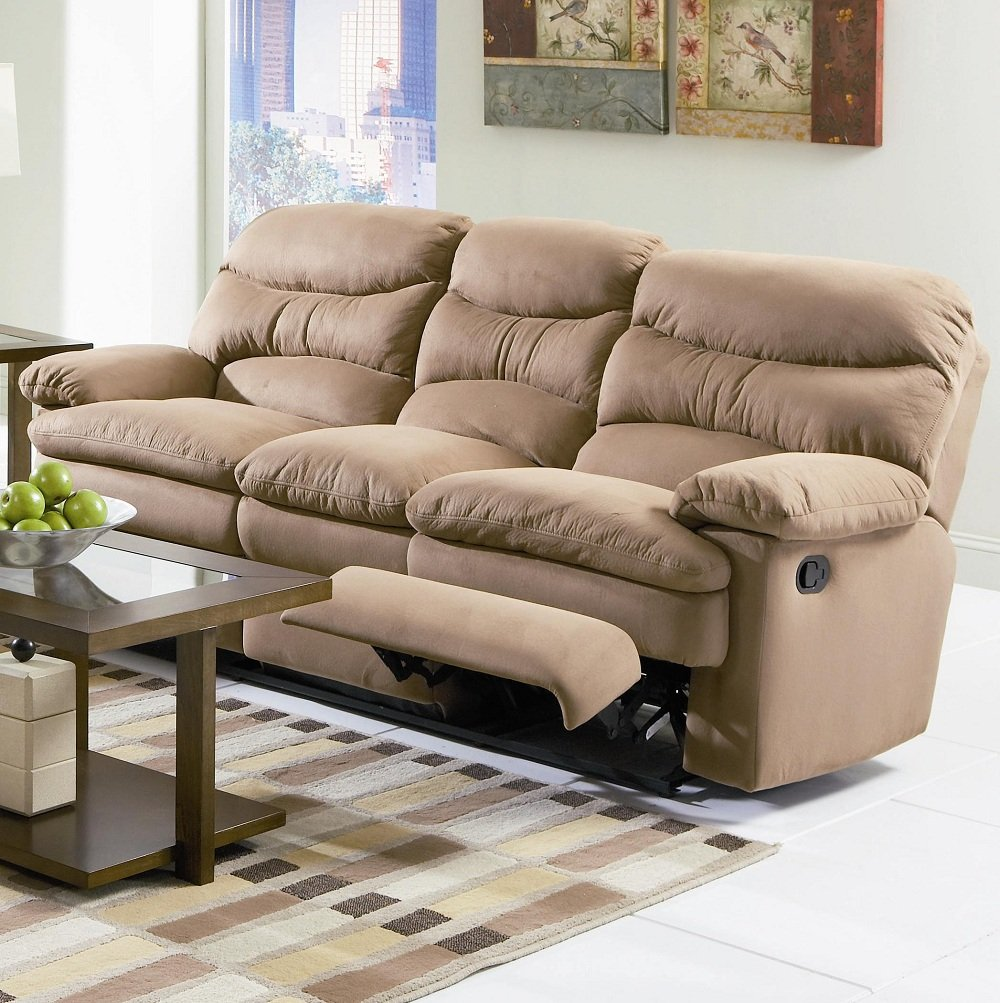 Beauty Microfiber Reclining Sofa