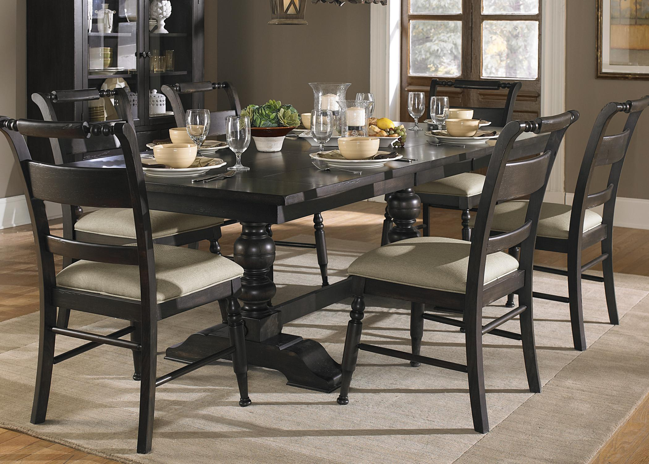 Black Trestle Dining Table
