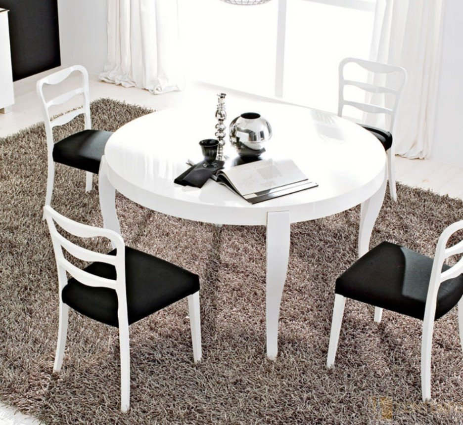 Black White Lacquer Dining Table Loccie Better Homes