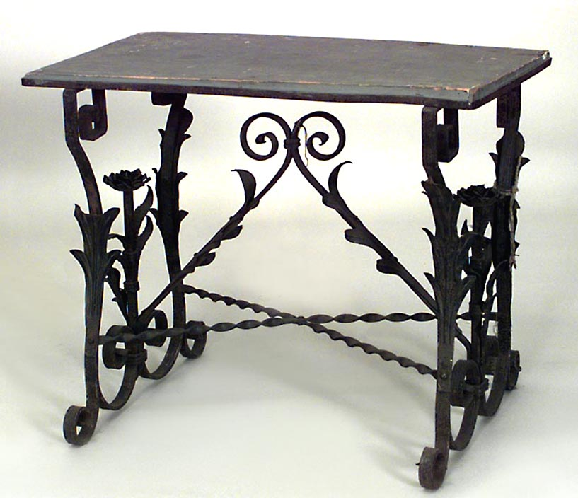 Black Wrought Iron End Tables