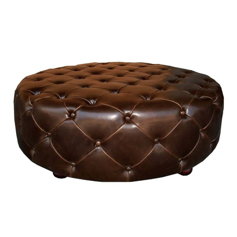 Brown Round Ottoman Coffee Table