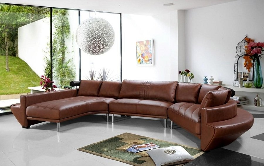 Brown Sectional Leather Sofas