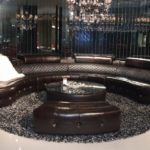 Dark Circular Sofa Patio Furniture