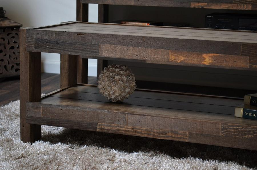 Compact Reclaimed Wood Media Console