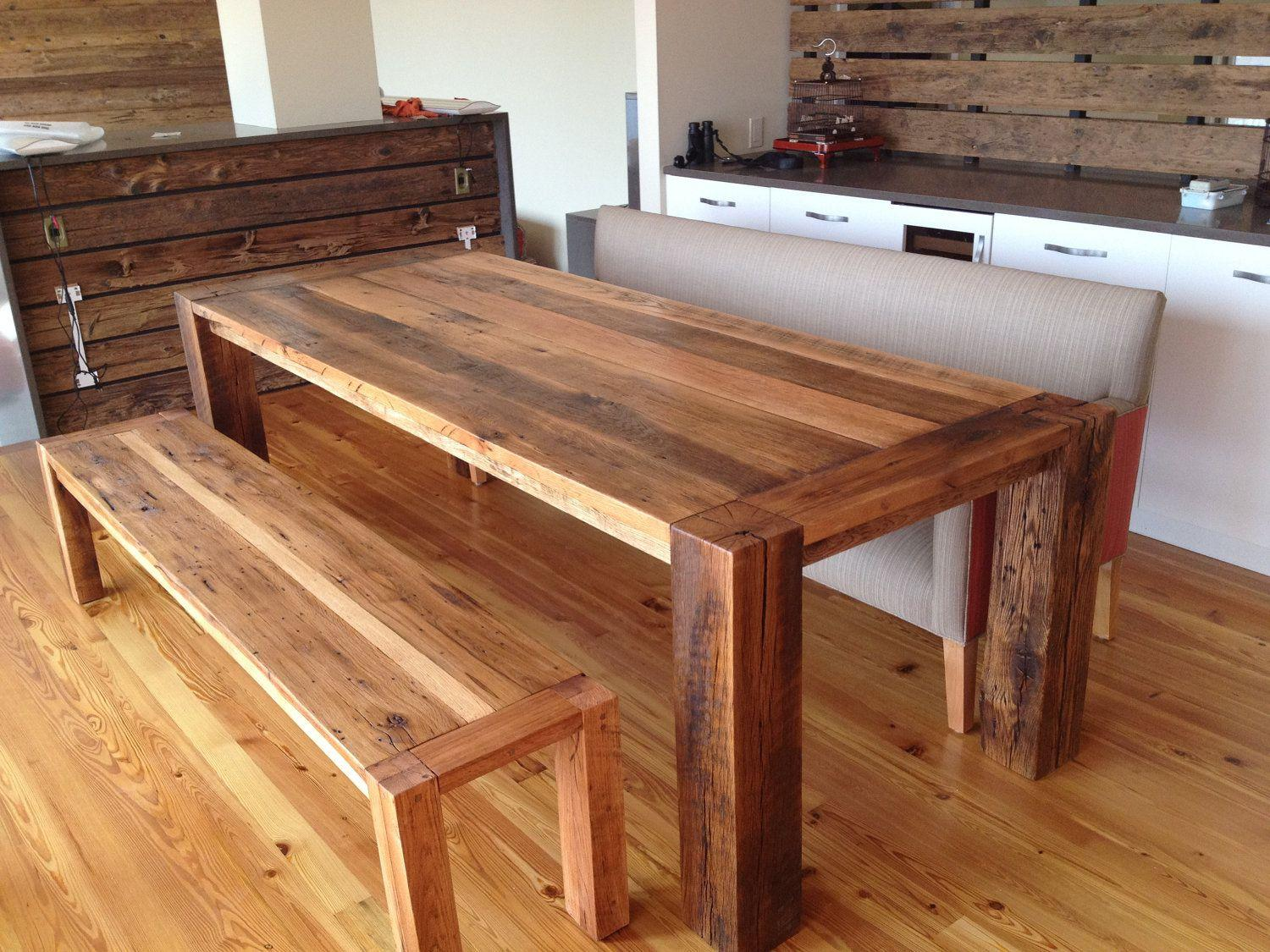 Concept Reclaimed Wood Ddining Room Table