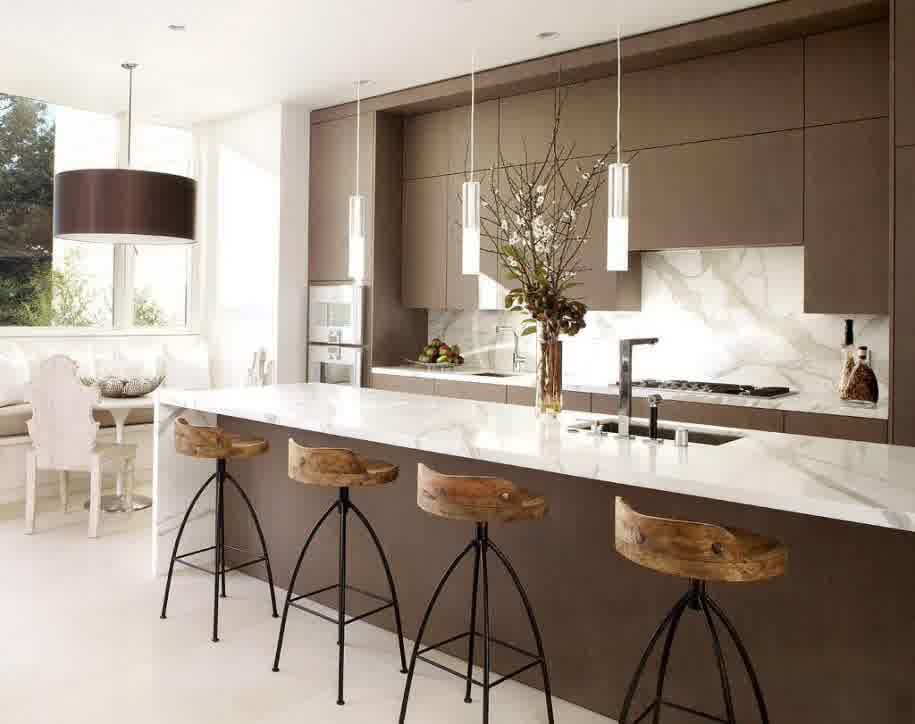 Contemporary Kitchen Islands With Stools