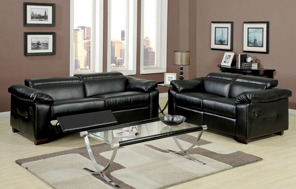 Contemporary Modern Reclining Sofa