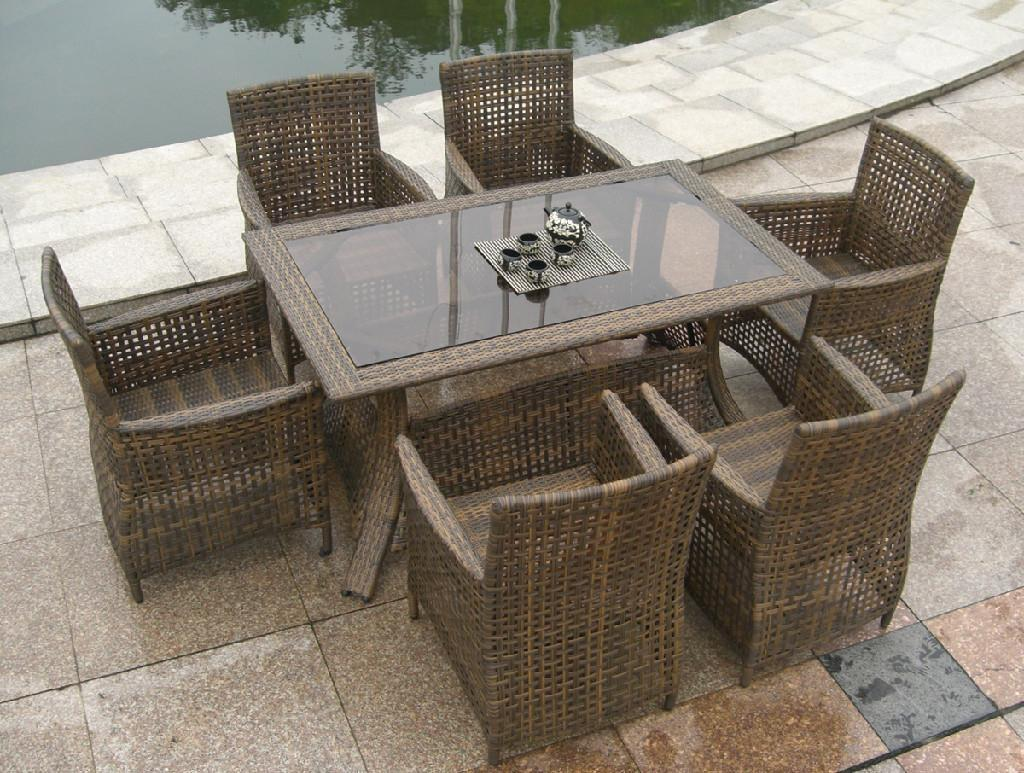 Contemporary Rattan Dining Chairs