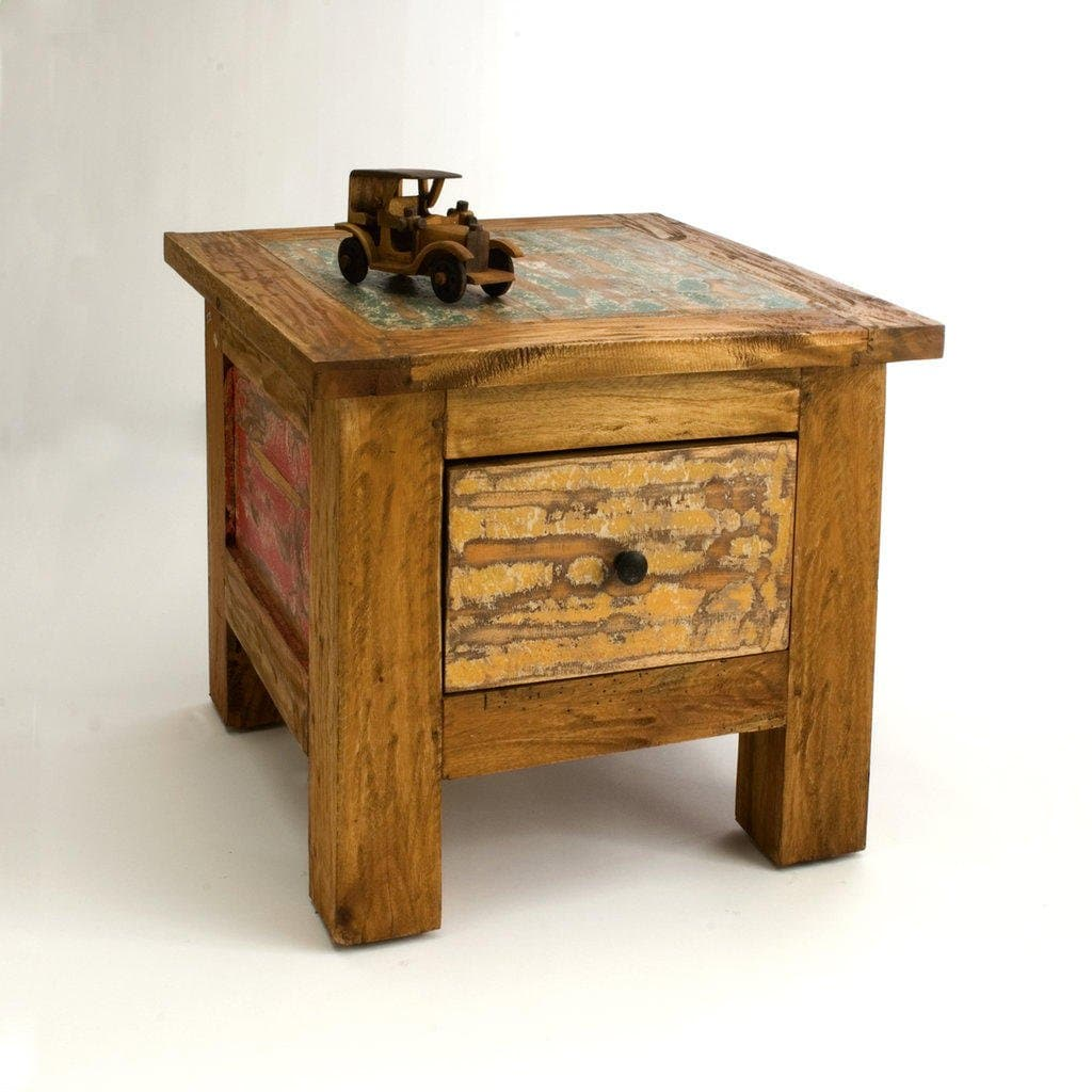 Cool Reclaimed Wood Side Table