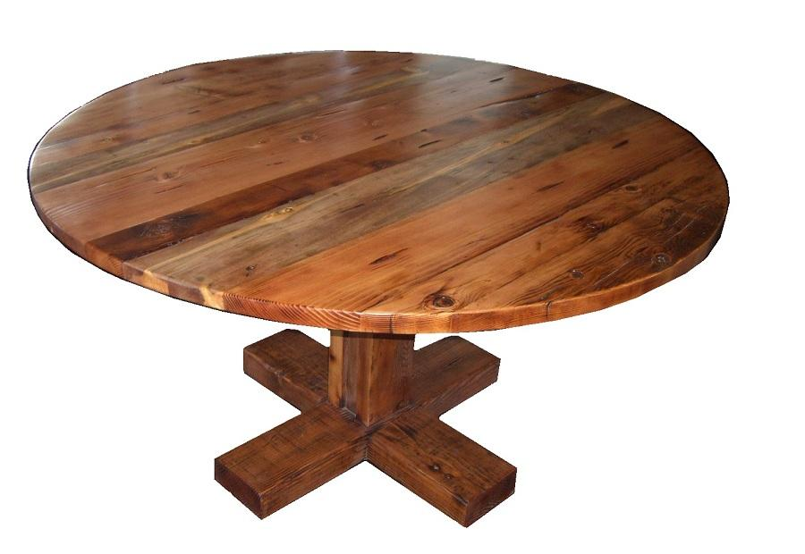 Create Reclaimed Wood Round Dining Table