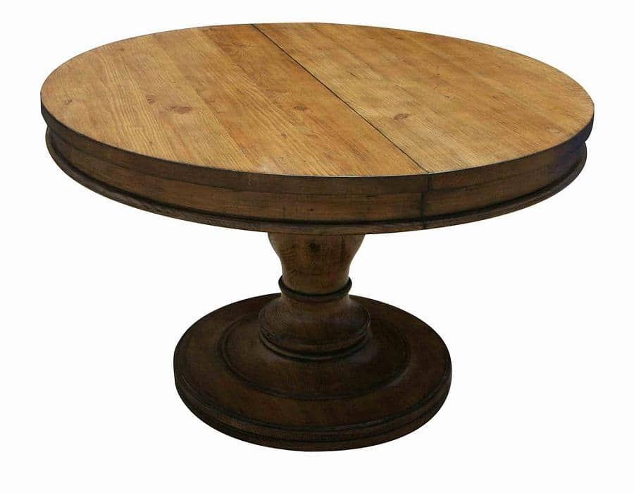 Custom Reclaimed Wood Round Dining Table