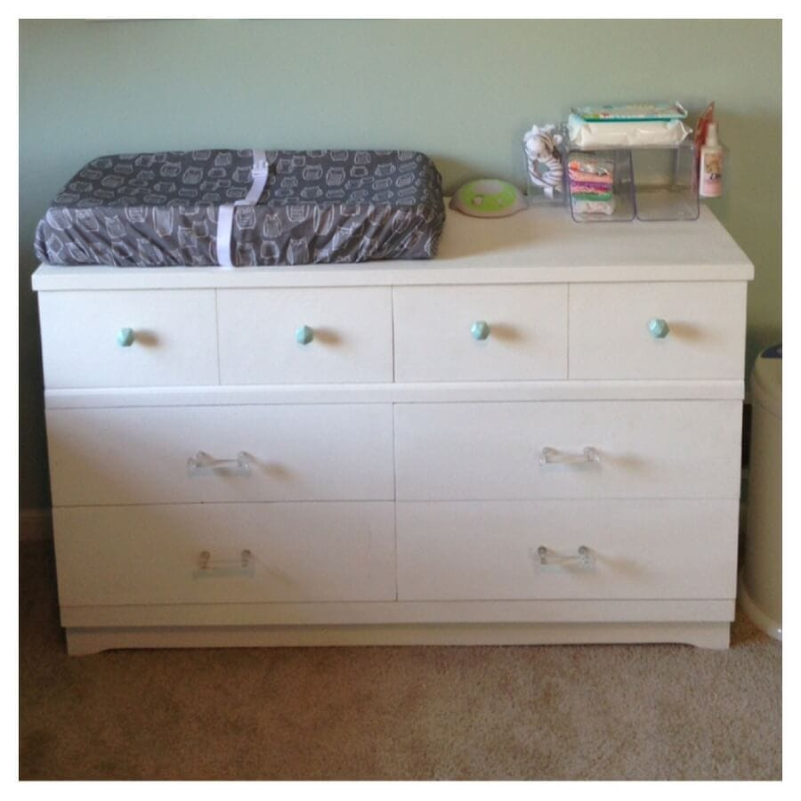 Cute White Changing Table Dresser