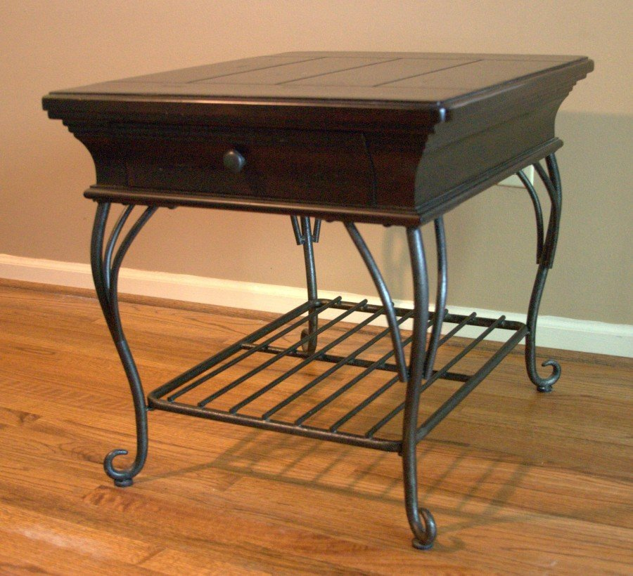 Cute Wrought Iron End Tables