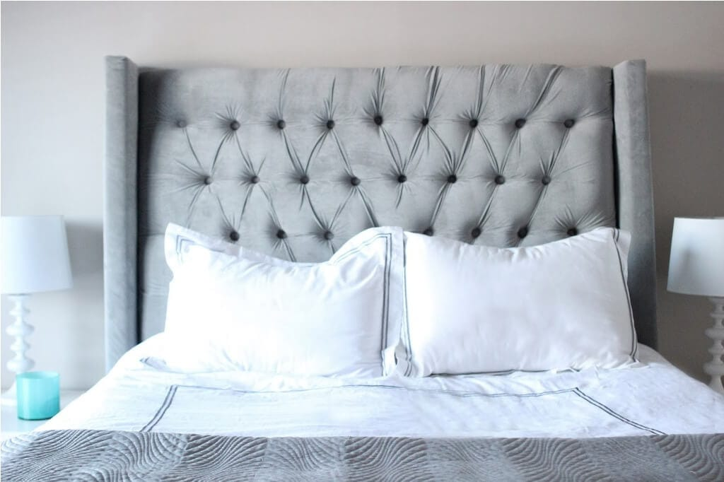 DIY Tufted Headboard With Wings