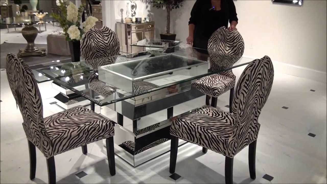 Dazzling Mirrored Dining Table
