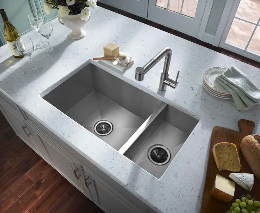 Deep Kitchen Sinks Drain