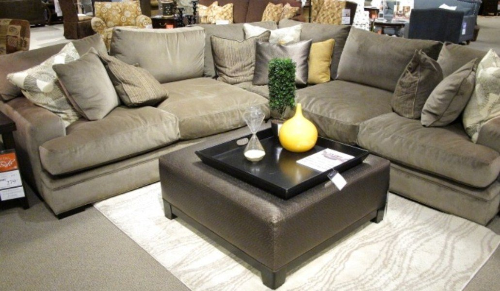 Nice Grey Deep Sectional Sofas Living Room Furniture