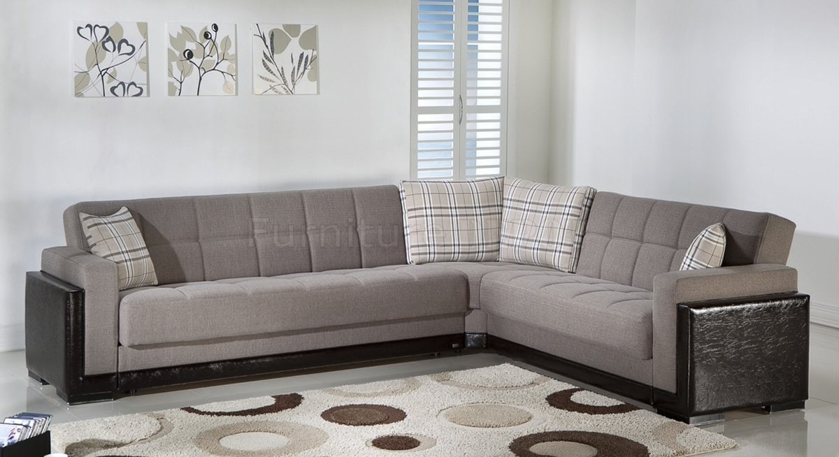 Clean Design Convertible Sectional Sofa Bed