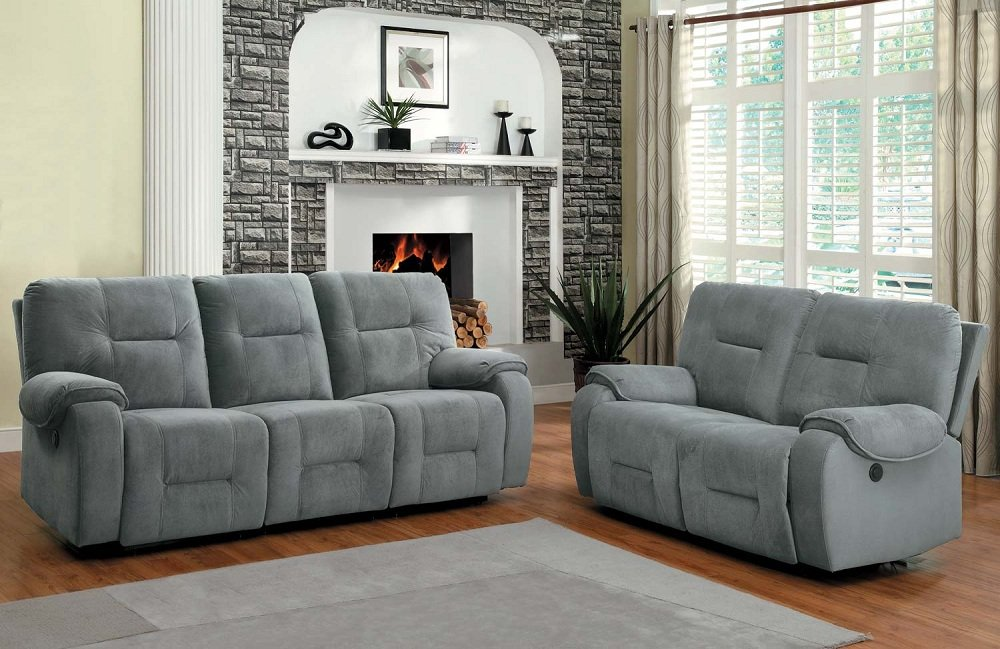Design Microfiber Reclining Sofa