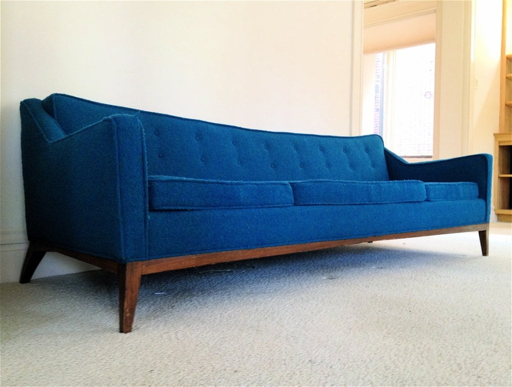 Design Mid Century Leather Sofa