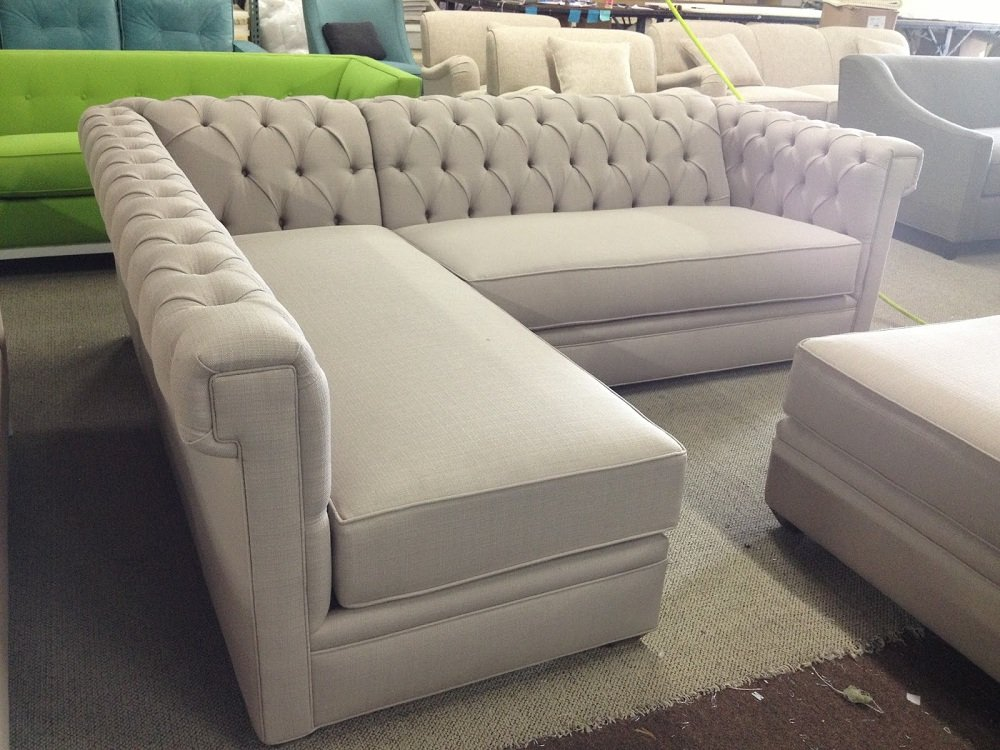 Design Tufted Sectional Sofa