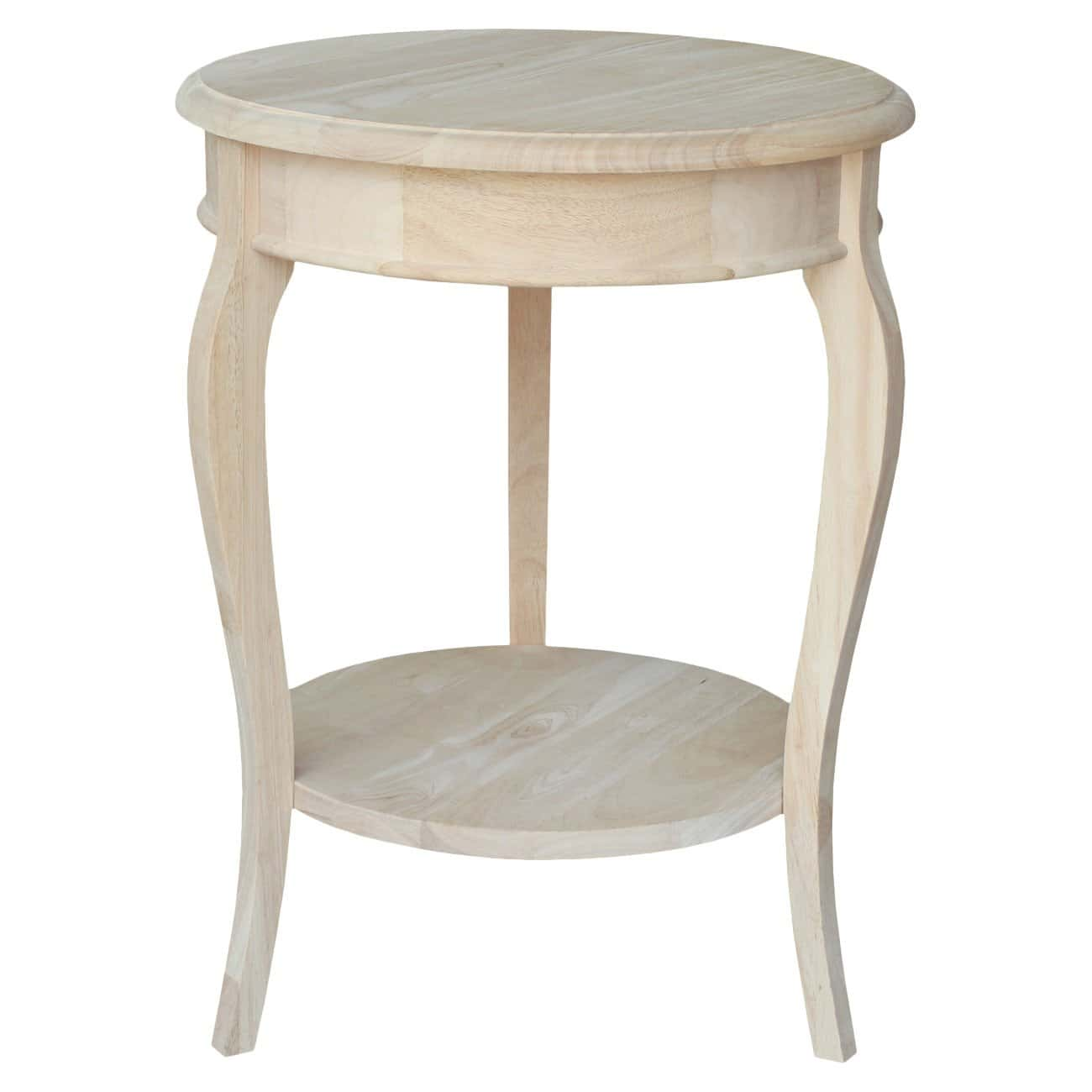 Distressed End Tables Wood Round