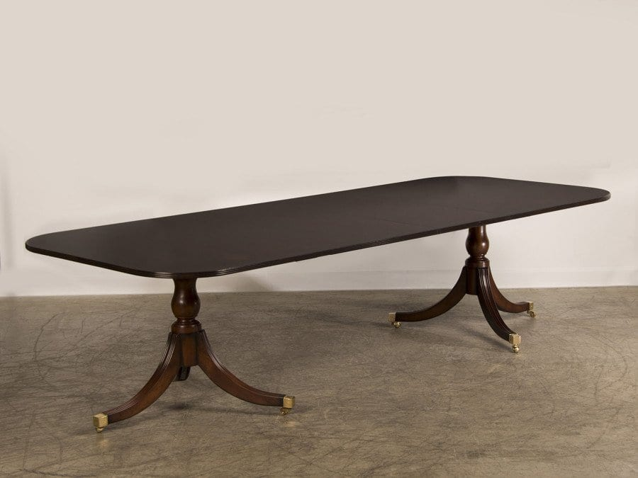 Double Pedestal Dining Table Style