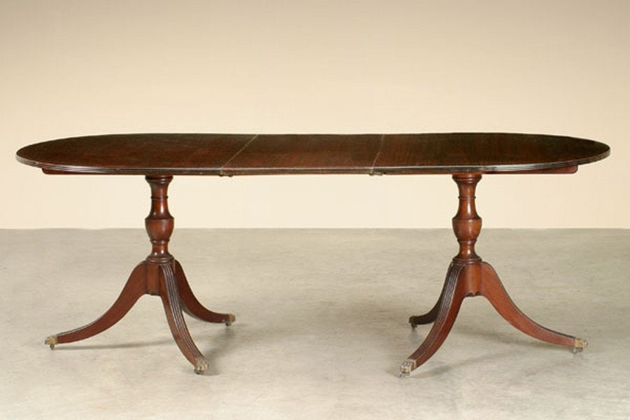 Elegant Double Pedestal Dining Table