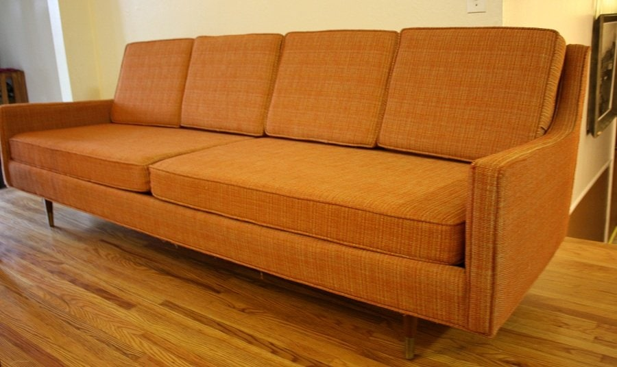 Excellent Mid Century Leather Sofa